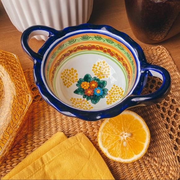 Vintage Mexican Mini Serving Salsa Bowl Hand Paint